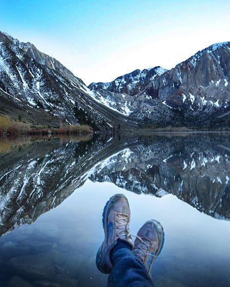 View for days Lake Convictlake Sierras Mammothmountain