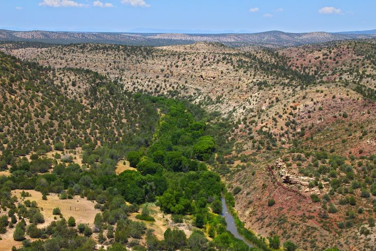 Upper Verde River, Arizona. Verde Monocline. Arizona Creek Arid Climate Beauty In Nature Canyon Day Desert Landscape Mountain Nature No People Outdoors Physical Geography Plant River Scenics Sky Stream - Flowing Water Tranquil Scene Tranquility Tree Verde River