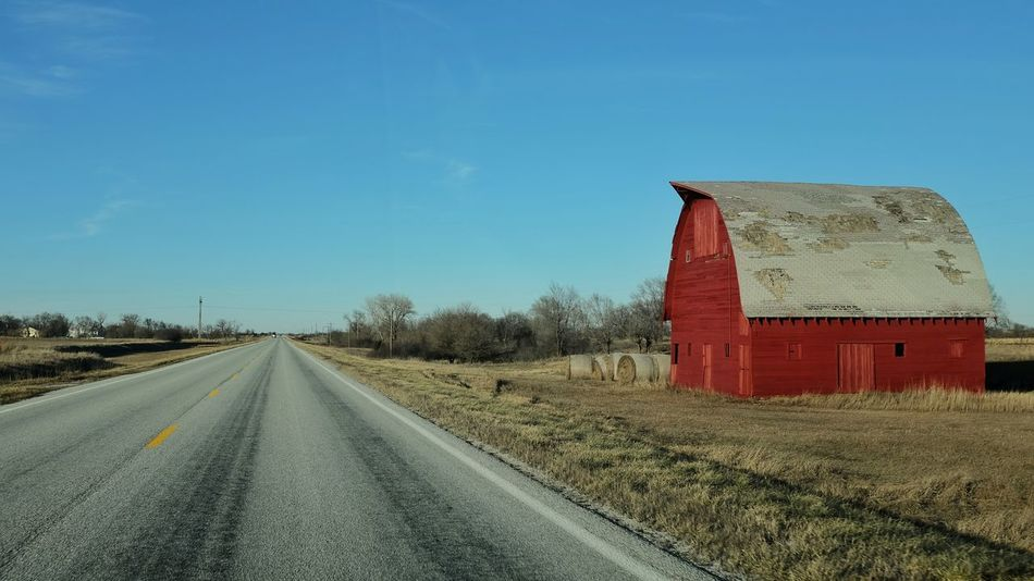 December 2015 A Day In In The Life A Day In The Life Color Photography December Landscape Outdoors Rural America Barnstorming Old Barn My Neighborhood On The Road Journey Travelling Driving Red Barn