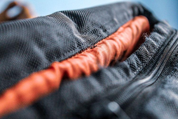 Close-up of black bag