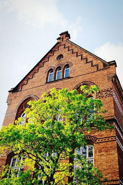 Schooldays Brick Building Skyporn Sky And Clouds Tree Brunswick Braunschweig
