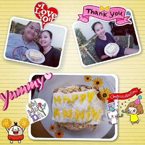 Show your love with food. Happy anniversary dear @veronicaevafd! Long last for us :*