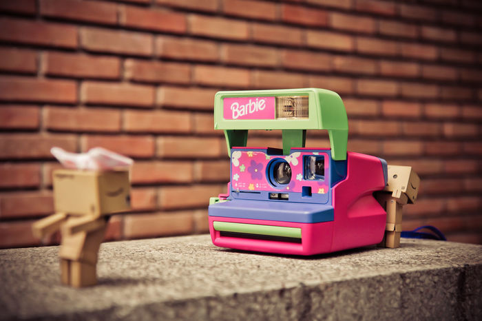 Barbie Cardboard Box Close-up Day Indoors  No People Polaroid Polaroid 600 Polaroid Camera Polaroid Pictures Polaroidcamera Technology Toy Toy Photography Toyphotography