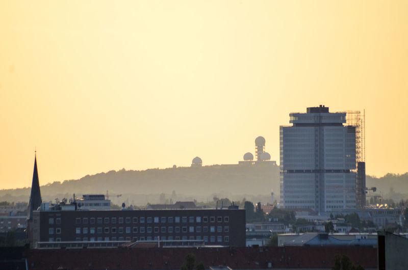 Berlin Radar Station Sunrise Teufelsberg Paint The Town Yellow