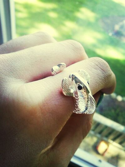 I love the symbolism of the koi fish. Fish Ring Jewelry Pretty