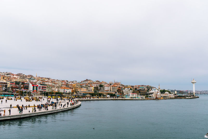Uskudar in istanbul is where the trains cross the underwater tube through bosphorus from sirkeci