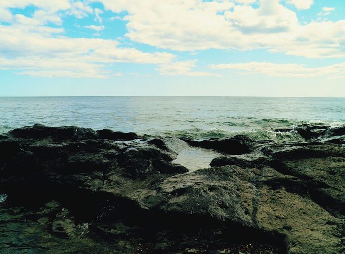 Clouds And Sky Lake Superior Minnesota Nature Shoreline Rocky Shore Beautiful Day Kettle Erosion Edge Of The World