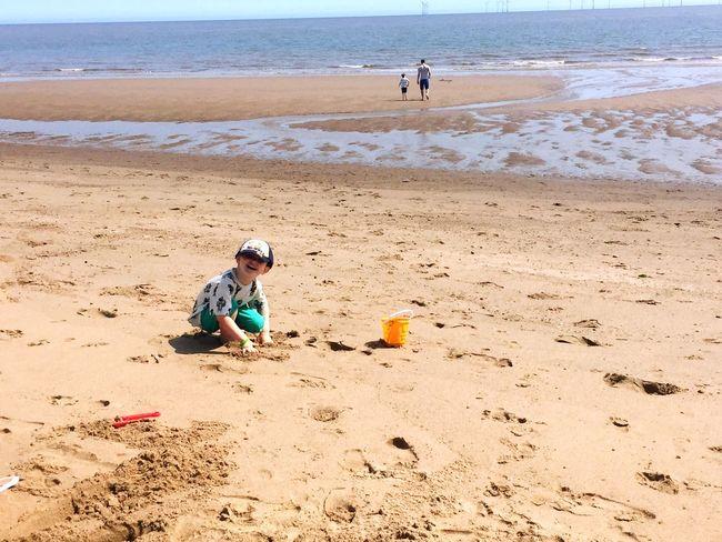 British Summertime Seaside Beach Sea East Coast Sand Castle Making Family Time Family Adventures