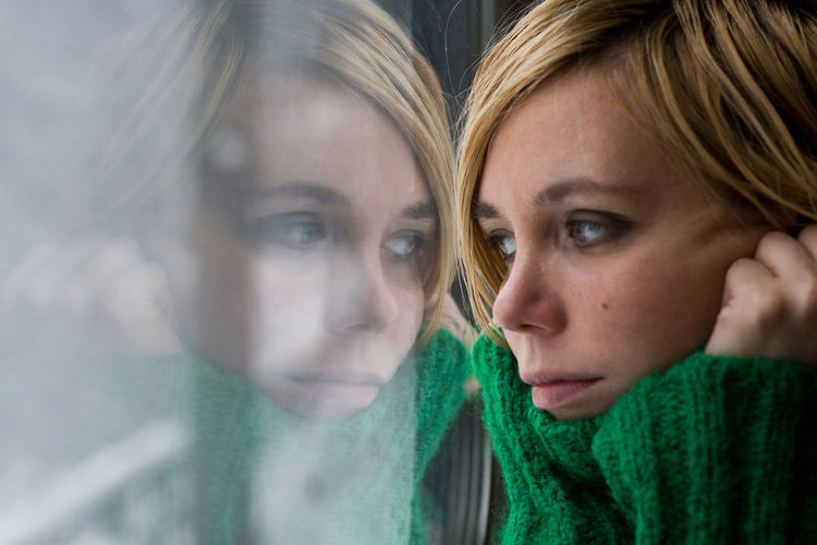 train windows Alone Beautiful People Blonde Caucasian Close-up Cold Day Green Sweater Headshot Leaning Looking Outside Me And Myself Portrait Reflections Thinking And Dreaming Train Window Winter Young Women