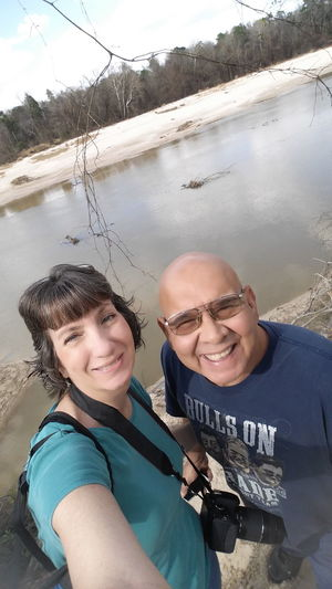Me and my sweet hubby Two People Togetherness Happiness Portrait Smiling Looking At Camera Adults Only Tree Leisure Activity People Outdoors Water Day Forest Parks Eyemphotography Popular Photos No Filter, No Edit, Just Photography Tranquil Scene Eyemphotos Nature Scenics Photography Creeks