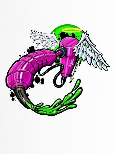 My new sticker Sticker Sticker Design Check This Out Torstenmatthes Fullcustomtattoo Customdesign Mrttattoo