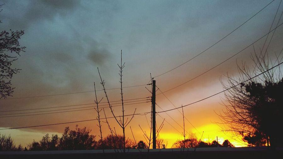 March 25, 2014. Boise, Idaho Skyporn Sky Sunset Sun