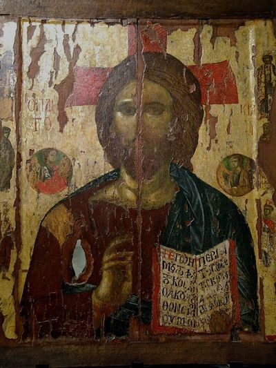 Art Medieval Art Bulgarian Medieval Art Jesus Christ Withered Paint Christianity Christian Religion Religious Art Religious Icons Pantokrator