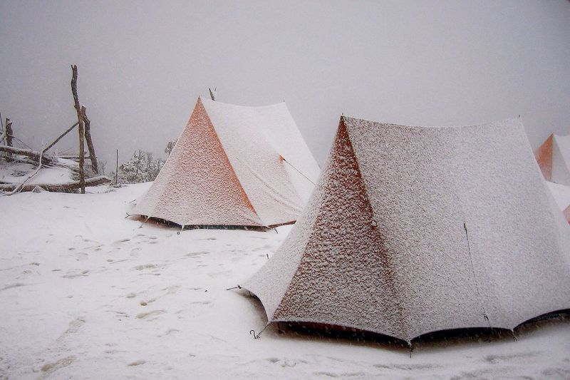 Camping Camping Out Snowing Cold Winter Winter Wonderland Tents Snow Himalayas No People Outdoors