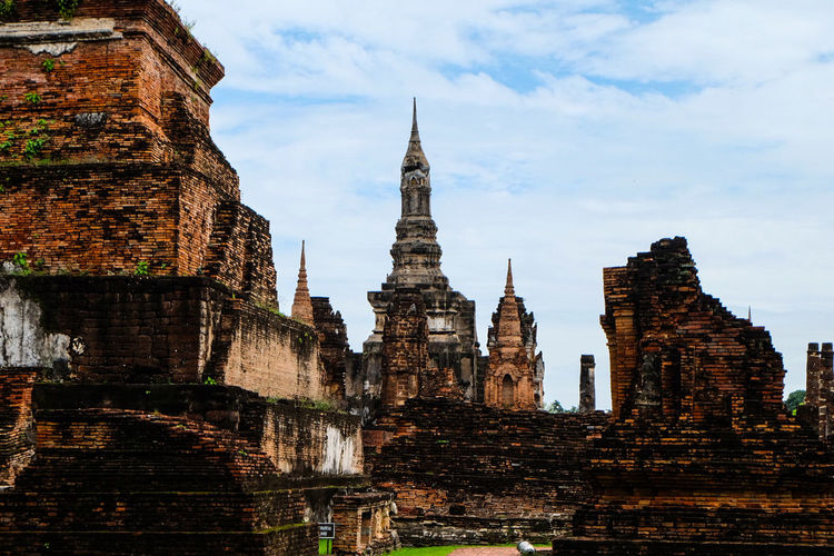 Heart of Ancient City Sukhothai Thailand Architecture Skyscraper Tower Business Finance And Industry Building Exterior Modern History Travel Destinations Built Structure Cityscape Urban Skyline City No People Sky Water Outdoors Day Thailand🇹🇭 Archaeology Historic Building Sukhothai Ancient Travel City Heart ❤