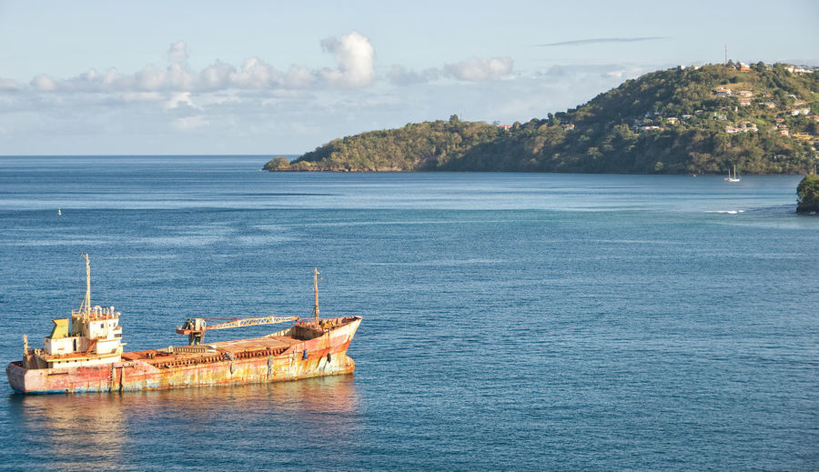 Caribbean sea - Grenada island - Saint George's bay Caribbean Sea George Grenada Antilles Bay Beauty In Nature Caribbean Day Island Nature Nautical Vessel No People Ocean Old Outdoors Saint Saint George's Sea Ship Sky Tranquility Transportation Tropical Water Waterfront
