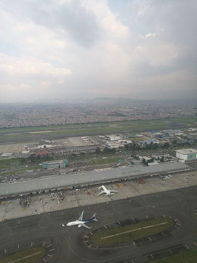 Aerial View Cloud - Sky Sky City Cityscape Bogota,colombia. Internacional Airport El Dorado