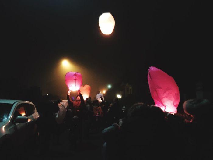 Light Lanterne Lanterns Lanterns In The Dark Lanternsfestival Love Heart Illuminated Sky Darkness And Light