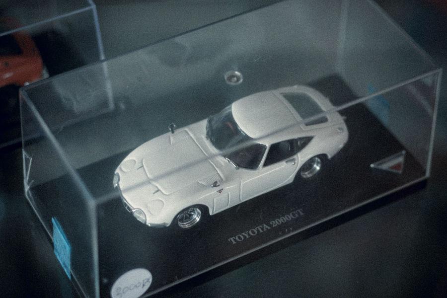 Close-up Car Interior Model Car Model TOYOTA 2000 GT Car Vintage Toy