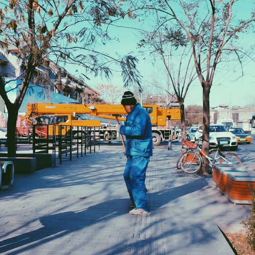 Full Length One Person Rear View One Man Only Real People Men Adult Only Men Walking Adults Only Tree Standing Day Outdoors People Nature Sky Nautical Vessel Hanging Out Streetphotography EyeEm Best Shots Eye4photography  Hello World