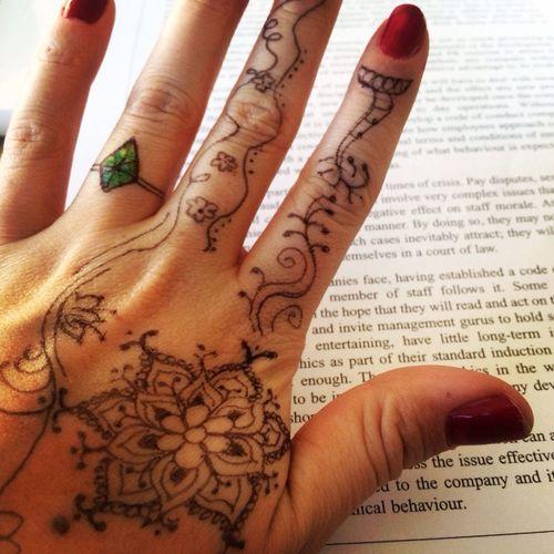 Henna Tattoo Selfmade Tonight Is