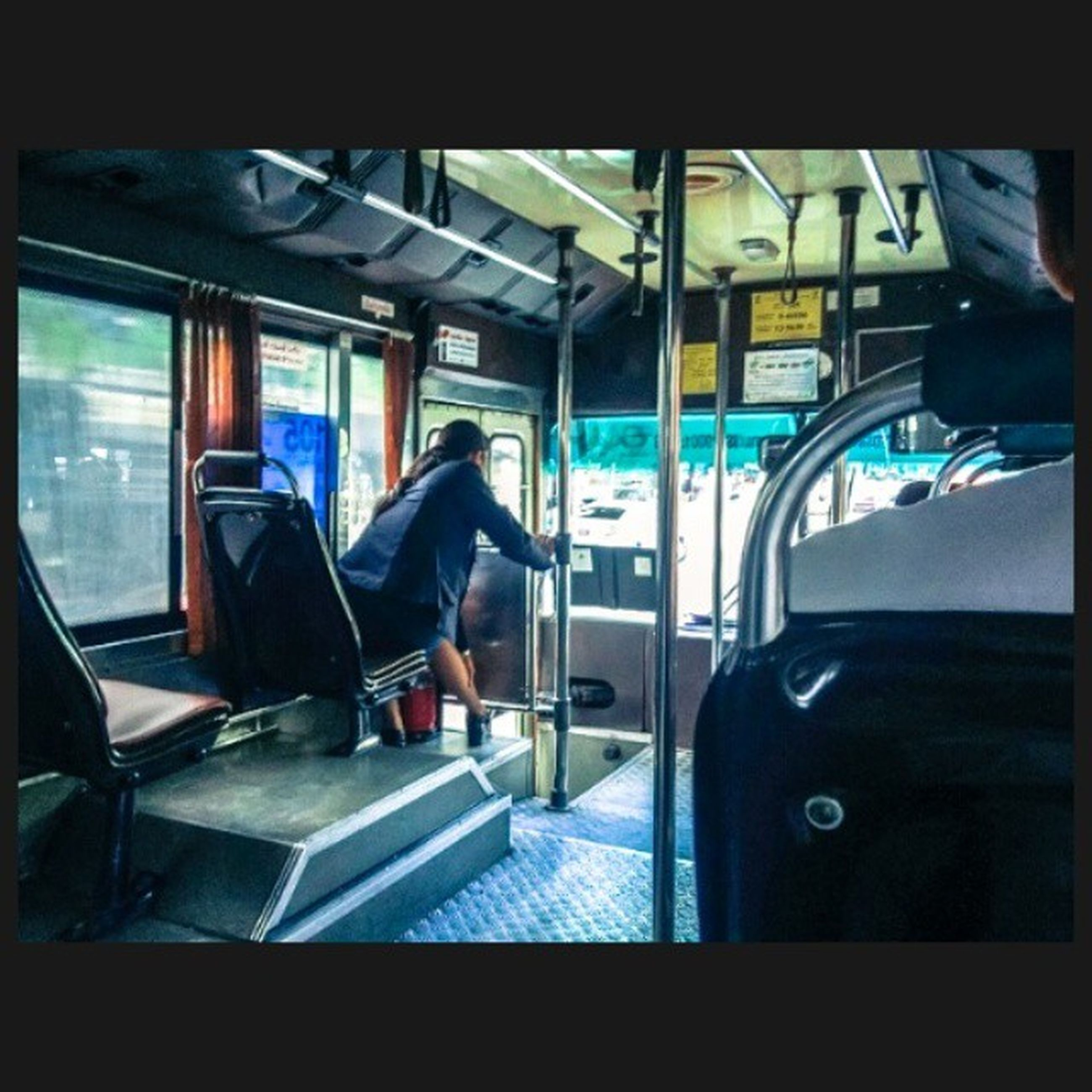 transportation, indoors, vehicle interior, mode of transport, vehicle seat, public transportation, travel, train - vehicle, passenger train, journey, bus, men, passenger, land vehicle, window, rail transportation, train, transfer print