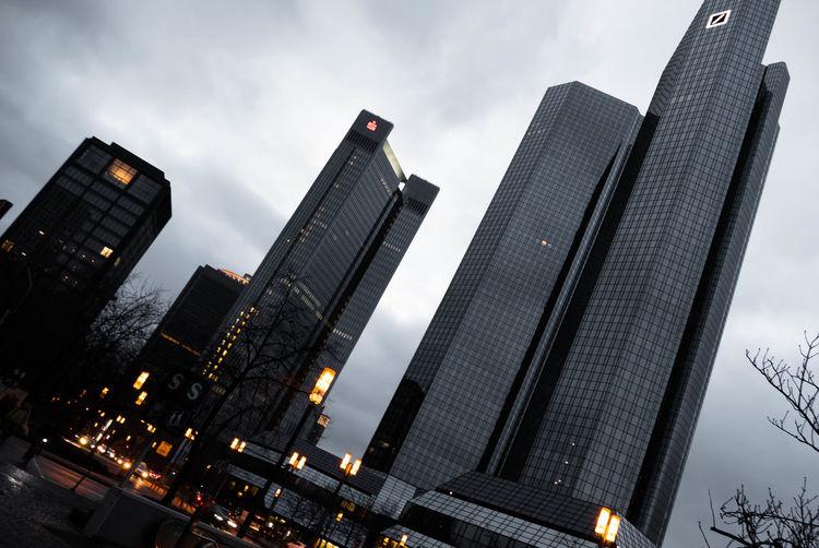 Frankfurt am Main Frankfurt Am Main Skyscraper Skyline Building Architecture Mirror Deutsche Bank