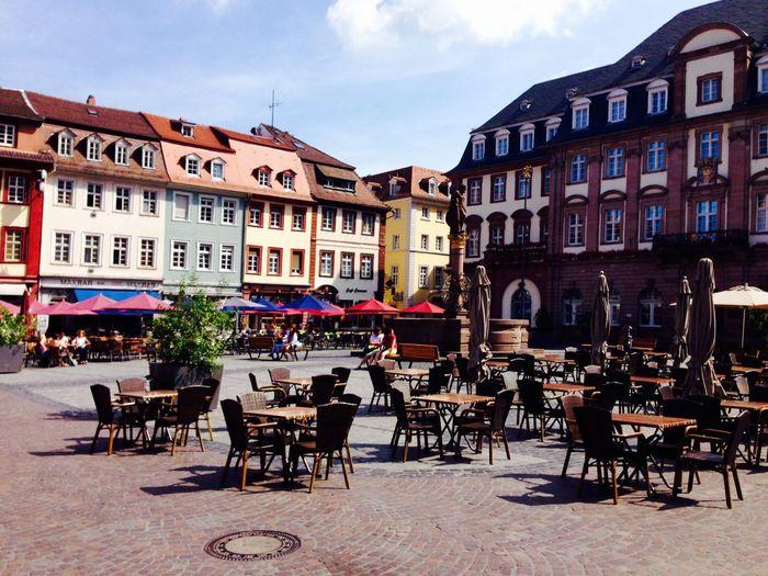 Marktcafes Wo sind die Gäste? Cafe Time Heidelberg Altstadt Marktplatz Thankyou