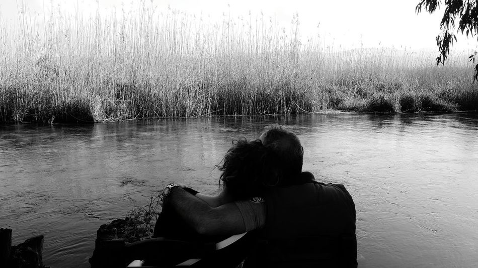 Love Peace And Quiet Couples Reeds Nature Riverside Black And White Bnw_collection Black & White Q People Photography