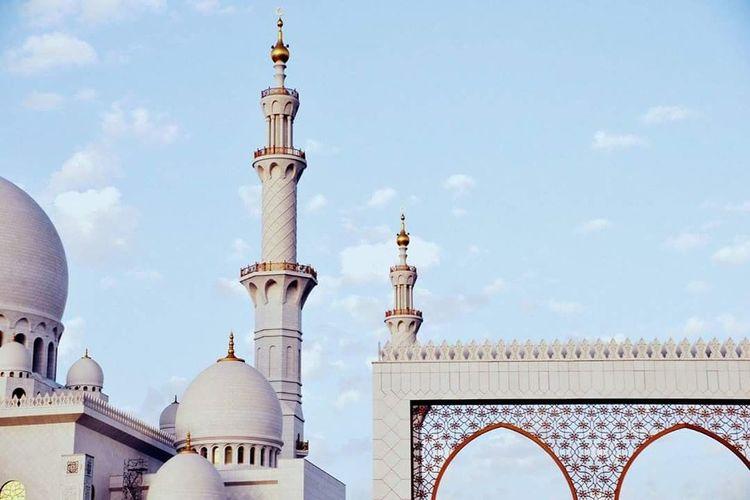 Abu Dhabi Relaxing Mosque Sheik Zayed Mosque Photography Photo Culture