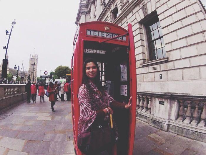 London City Telephone Box Girl