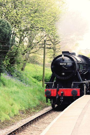 EyeEmNewHere BronteCountry Tree Steam Train Locomotive Old-fashioned Rail Transportation Sky