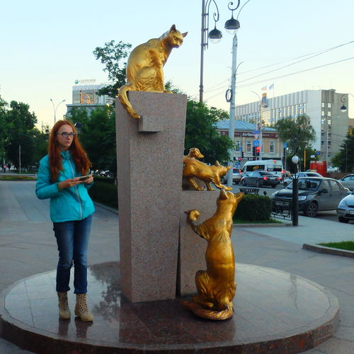 Casual Clothing City Day Girl Lifestyles Russia Sky Turism Turist Tyumen'