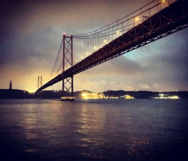 Running Rainy Days Rainy Morning #bridge #lisbon #foggy