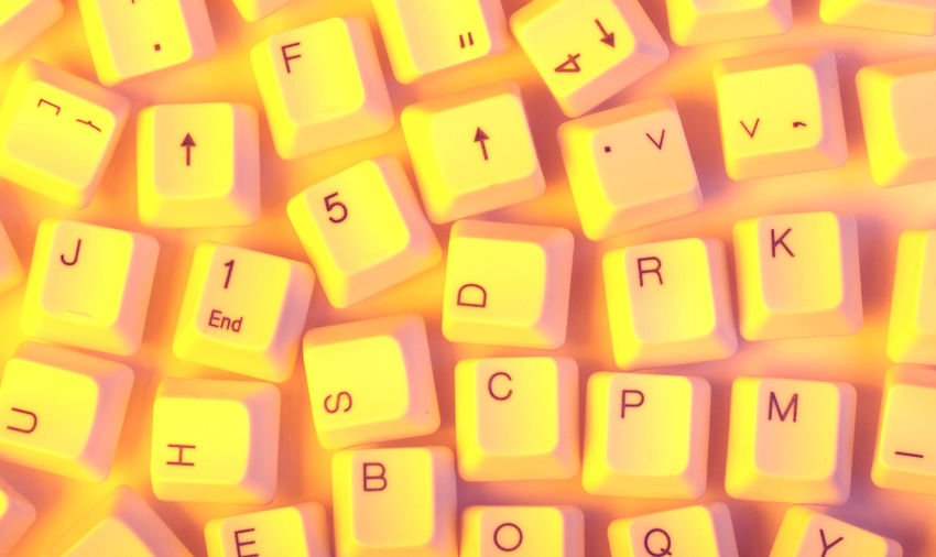 Detail shot of computer keys