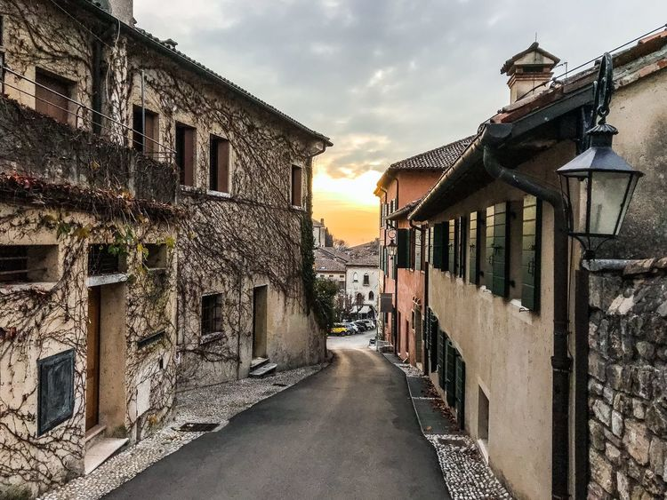 Before Sunset Shotoniphone7 ShotOnIphone Asolo Asolo, Italy Old Street Architecture Building Exterior Built Structure Sky Cloud - Sky No People Outdoors Day