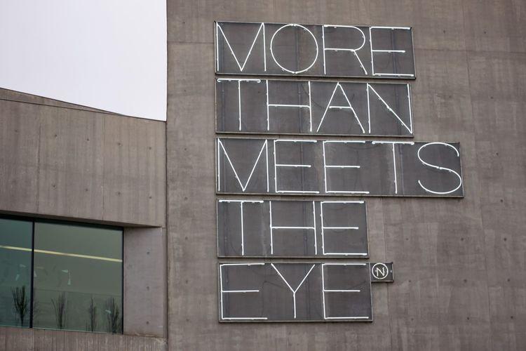 Text on glass window