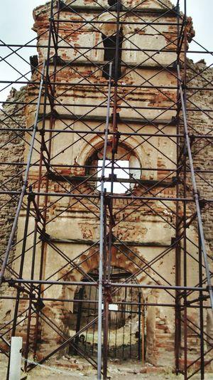 Iglesia Arquitectura Cananea, Sonora. Foto vieja tomada en un viaje a cananea.