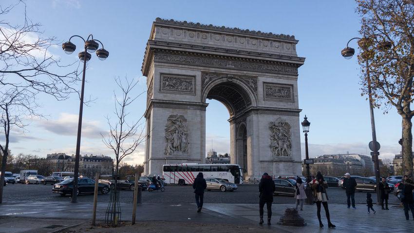 Arc De Triomphe, Paris Arc De Triomphe De L'Étoile Arc De Triomphe Arch Architecture Built Structure Outdoors Tourism Travel Destinations Triumphal Arch