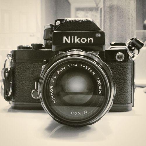My dad's old school Nikon F2. Made around 1973. Nikon Nikonf2 VSCO