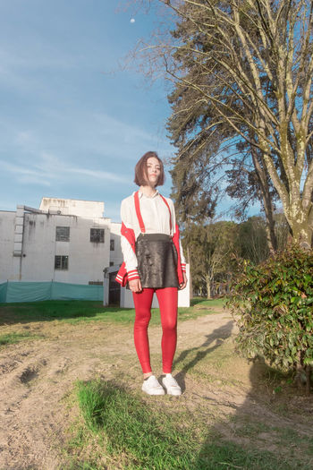 Visual diary w/friends. Claudia. Bogotá Building Exterior Color Grass Outdoors Photography Red Varsity  Visual Diary Young Women