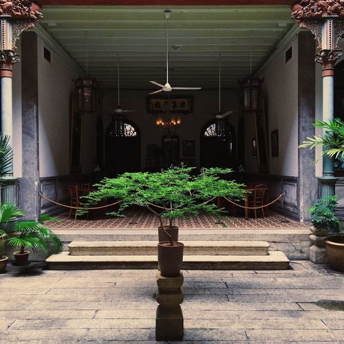 The Blue Mansion's courtyard. TheBlueMansion CheongFattTzeMansion Courtyard  Vibes