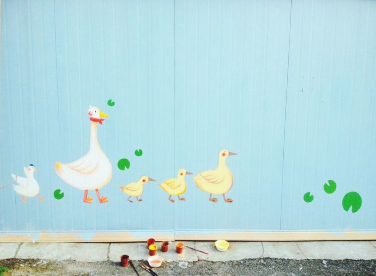 Wall Painting Ducks Pastel Colors Light Photography EyeEm IPhone IPhoneography Own Artwork Painting Paint