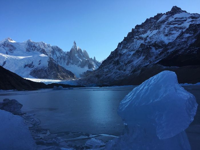 Water Nature Weather Ice Winter Blue Snow Tranquility Lake Argentina Mountain Season  Frozen Lake Scenics Beauty In Nature El Chalten Patagonia Argentina White Color Tranquil Scene Mountain Range Non-urban Scene Cold Temperature Snowcapped Mountain The Great Outdoors - 2017 EyeEm Awards