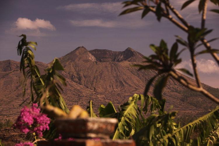 Scenic View Of Mount Batur Against Sky