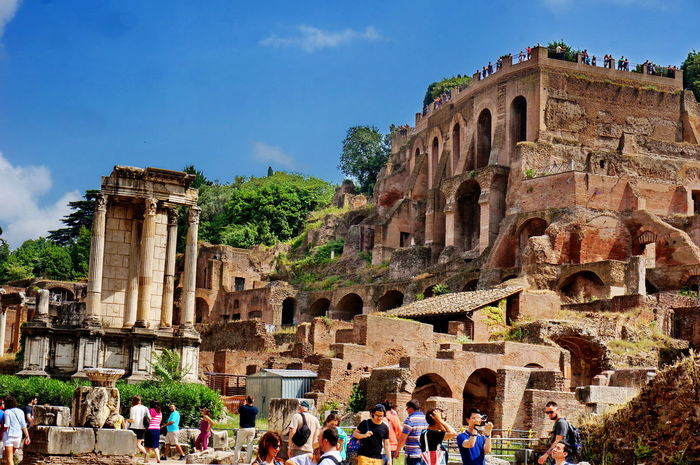 NEX-5T Rome Ancient Ancient Civilization Arch Archaeology Architecture Building Exterior Built Structure History Lifestyles Old Ruin Outdoors Real People Sky Sony The Past Tourism Travel Travel Destinations Vacations