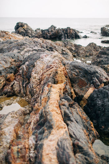 Rock formation at beach