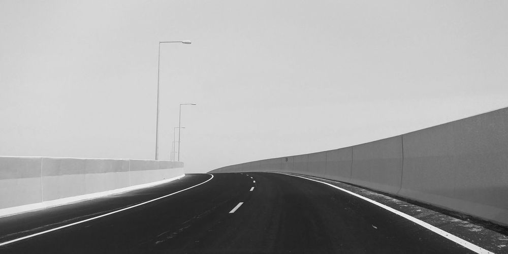 Eyeem Philippines Doha,Qatar Doha#City#❤ Doha Black & White Road Fly Over Road Transportation Highway The Way Forward Day No People Travel Curve Outdoors Built Structure