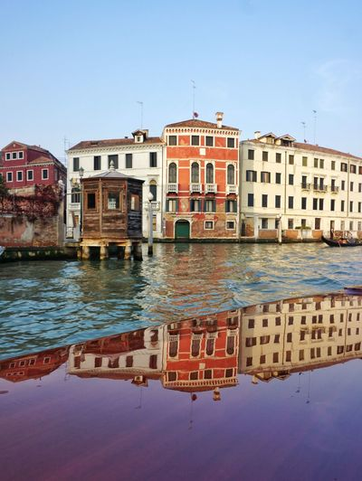 Water Building Exterior No People Outdoors Clear Sky Cityscape Canals And Waterways Canal Grande Love EyeEmNewHere Venice, Italy Romantic Venezia, Italy Cityscape Reflections Reflection Photography Architecture Building Architecture Photography Town Holidays Tourism Travel Destinations Travelingtheworld  Color Photography