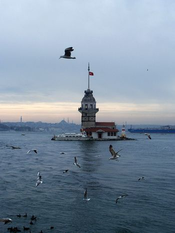 Sea Sky Architecture Travel Destinations Cloud - Sky Outdoors Travel Business Finance And Industry Sunset Day Tranquility Water No People Nautical Vessel Nature , Istanbul Turkey